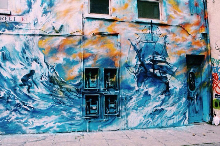 Graffiti in Shoreditch High Street. Graffitti London Shoreditch, London Eastlondon