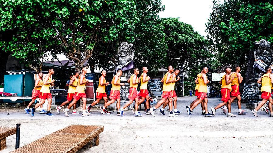 Balinese troops