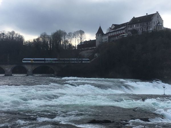 Rheinfall Steine Himmel Schloss Wasserfall Wasser Zug Architecture Water Built Structure Bridge - Man Made Structure River Connection Sky Long Exposure