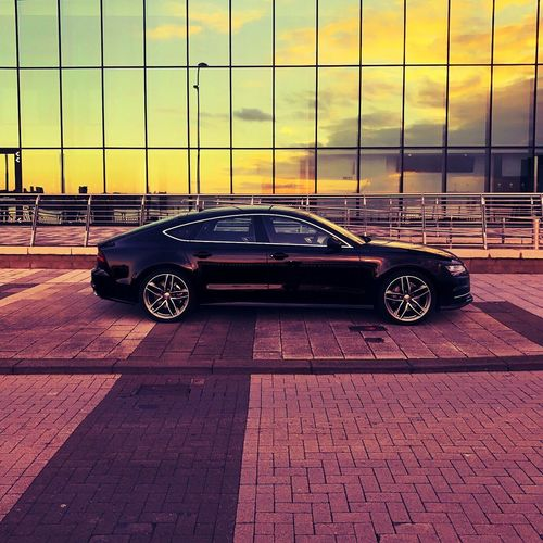Audi Audi A7 Liverpool, England Car No People Echo Mersey
