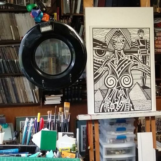 A drawing on my easel. Drawing ArtWork Marker Art