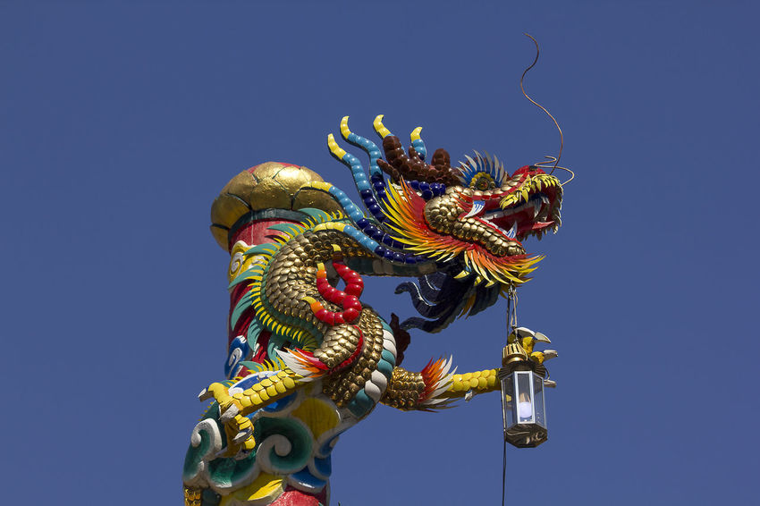 Golden dragon statue in Chinese temple Chinese Temple Ancient Architecture Golden Dragon Statue Art And Craft Belief Chinese Dragon Chinese Temple Chinese Temple Decoration Clear Sky Craft Creativity Dragon Dragon Statue Dragon Statues Festival Golden Dragon Golden Dragon Fly Golden Dragonfly Ornate Outdoors Religion Sculpture Sky Statue