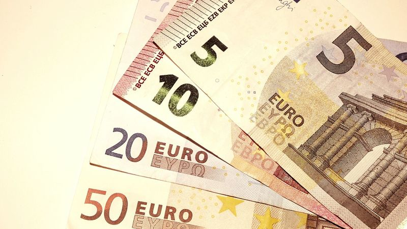 Money Euros 20 Euros Twenty Euro Five Euro Ten Euro Fifty Euro Paper Money