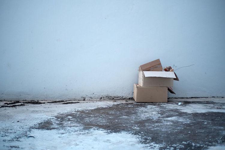 Lifeguard hut on white wall