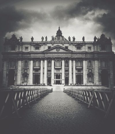 St.Peter's Basilica Vscocam Blackandwhite Italy Architecture