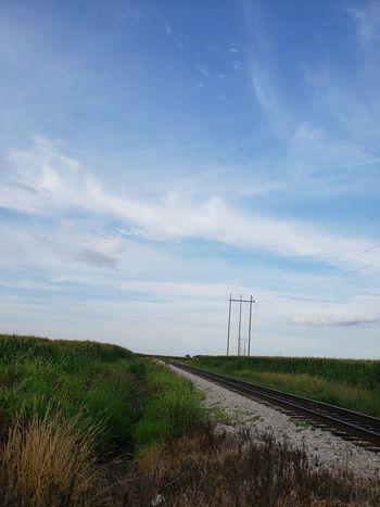 Railroad Track Rural Scene Sky Landscape