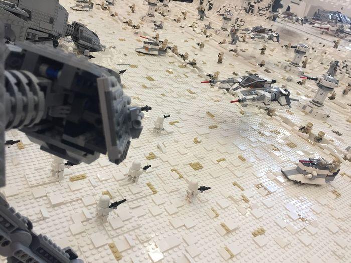 Lego Star Wars LEGO Lego Star Wars  Lego Minifigures Lego Sculpture Lego Star Wars Photography Battle Star Wars Scene Diorama Battlefield ATAT X-wing Hoth Stormtrooper Stormtrooper STARWARS Millennium Falcon