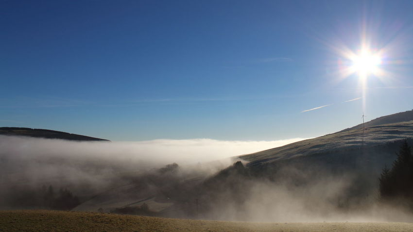 Blue Blue Sky Blue Sky And Clouds Fog Frost Low Clouds Low Clouds Over Misty Morning Strathbogie Whispy Clouds Winter Hills