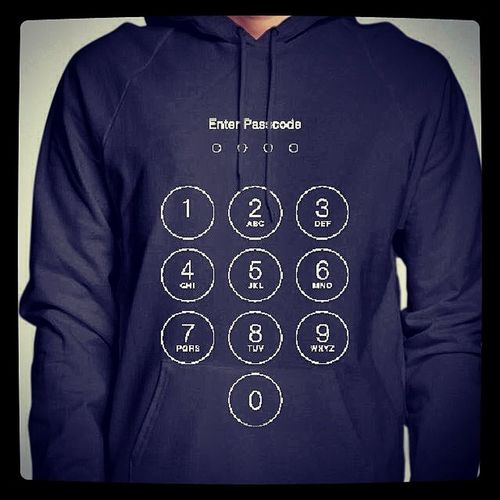 Enter passcode pls!!! -- Try it out Snaptee Hoodie IPhone