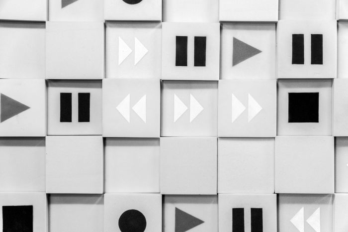 Music wall - soundproof soft cubes Abstract Background Backgrounds Black And White Bright Clean Cube Cubes Icon Lines Log Music Pattern Patterns Pause Play Record Soft Sound Soundproof Square Stop Studio Wall Wallpaper