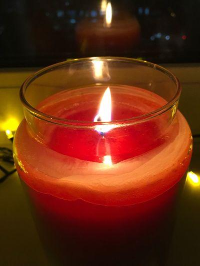 Candle Illuminated Flame Burning Heat - Temperature Glowing Celebration Close-up