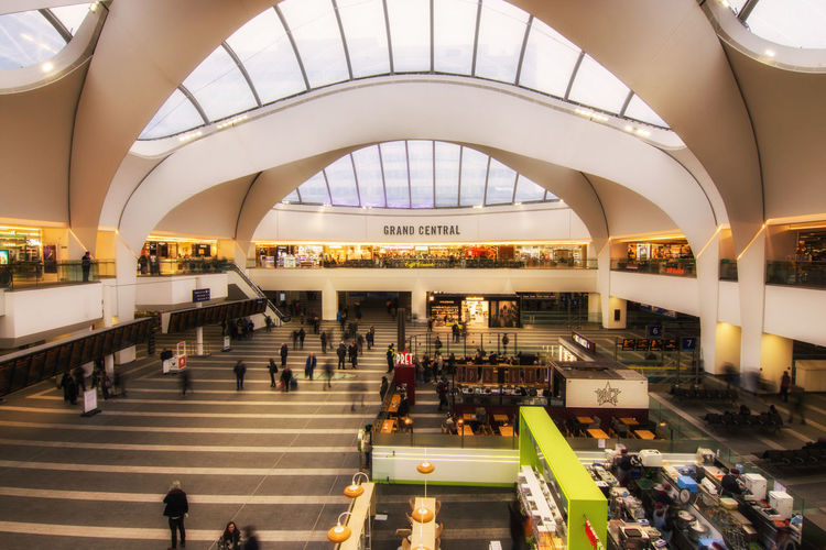 grand central birmingham Architecture Built Structure City Commuter Crowd Day Indoors  People Retail  Shopping Mall Train Station Travel