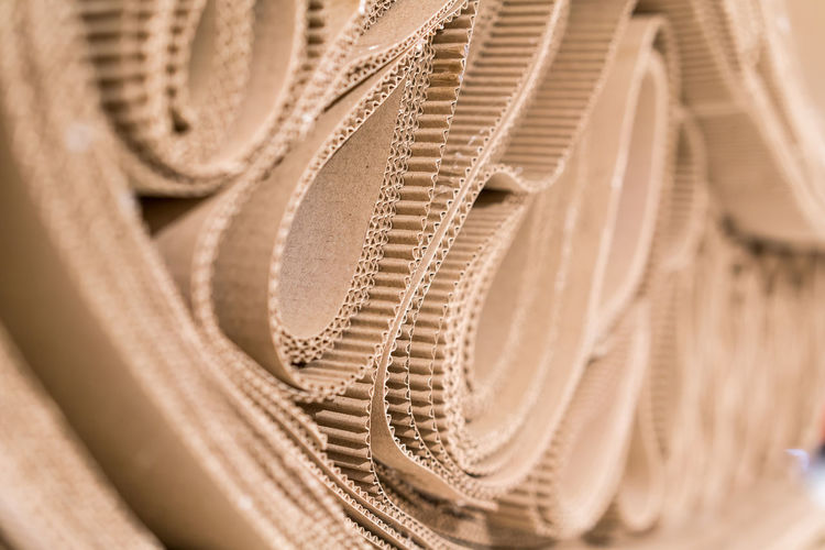 Close-up of patterned cardboard