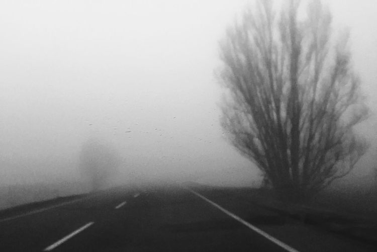 Fade to grey no.3 (sometimes I don't see the sun for weeks...) Commuting On The Road Blackandwhite Monochrome Foggy Morning Urban Landscape Eye4black&white  How's The Weather Today? My Daily Commute