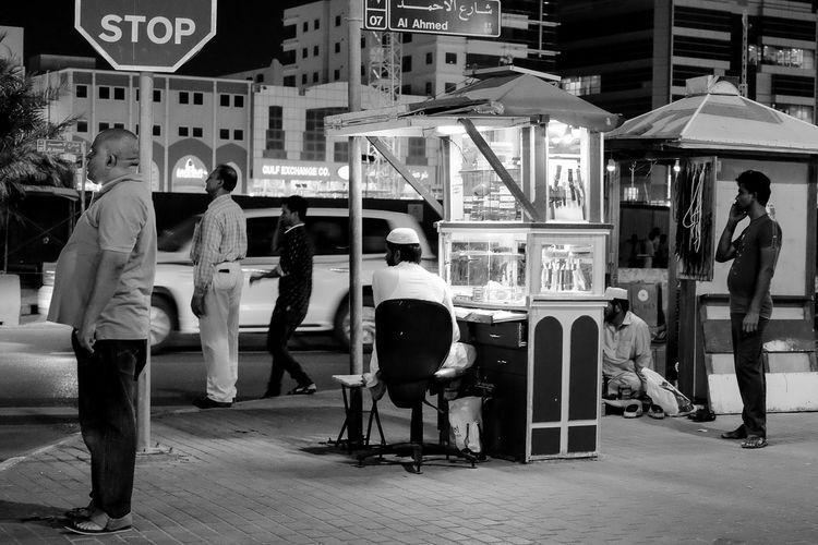 CS Doha Souq 01 Fujifilm Fujifilm Xt1 Fujifilm_xseries Moments Night Nightlife People Simple Street Streetatnight Streetblackandwhite Streetphotography Xf35mmf2