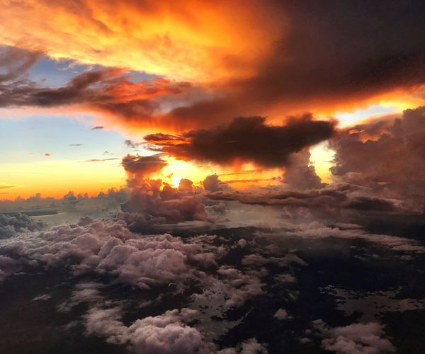 """The poetry of the earth is never dead."" Sunrise_sunsets_aroundworld Sunrise Cloudporn Cloud - Sky Cloud - Sky Eye4photography  Travel Photography Enjoying The View From An Airplane Windshield Sunset Sky Cloud - Sky Scenics - Nature Beauty In Nature Orange Color No People Nature Dramatic Sky"