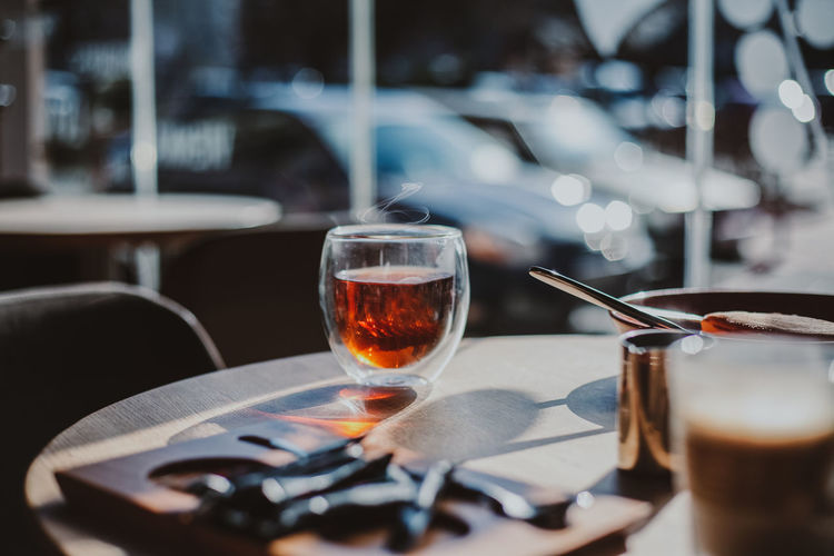 Drink on table at restaurant