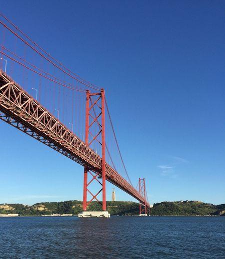 Ponte 25 de Abril • 25 de Abril Bridge Ponte 25 De Abril 25deabrilbridge Cristo Rei (Portugal) ChristTheKing Tagus River Lisbon Portugal IPhoneography