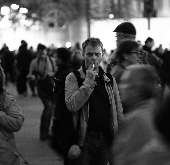 Night Photography Black & White Street Photography Crowd Lifestyles Men Motion & Still Photography Real People Young Adult