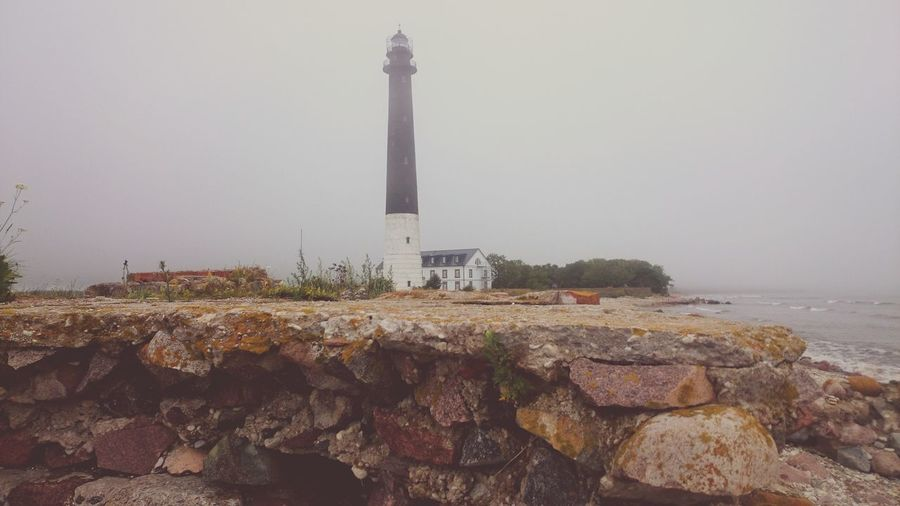 Lighthouse Misty Misty Morning By The Sea Good Morning Just Something Mood Of The Day Buildings & Sky First Eyeem Photo Old Building  Weather