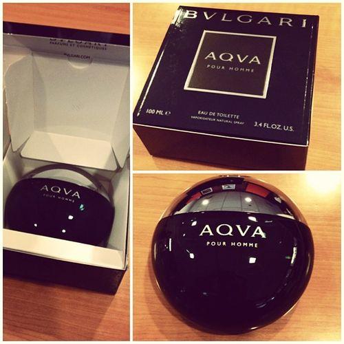 Bought this today to perk me up. A little personal reward. AQVA is orgasmic! Bvlgari AQVA Selfreward