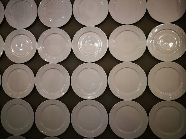Empty plates on the wall Empty Plates, On The Wall Plate Plates On The Plates On The Wall Water White Background White Plate
