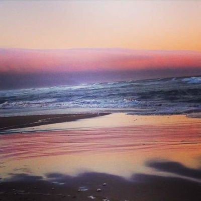 Beach Beauty In Nature Day Horizon Over Water Multi Colored Nature No People Outdoors Scenics Sea Sea And Sky Sky Sunset Tranquil Scene Tranquility Water Wave