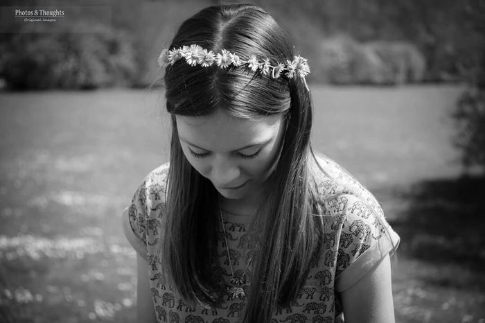 Blackandwhite My Beautiful Daughter Daisychain Boho Bohemian Thoughtful Portrait