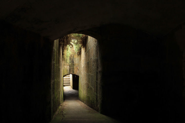 Ancient Civilization Arcade Arch Architecture Building Built Structure Corridor Dark Day Direction Empty History Indoors  Light At The End Of The Tunnel No People Old The Past The Way Forward Tunnel Wall - Building Feature