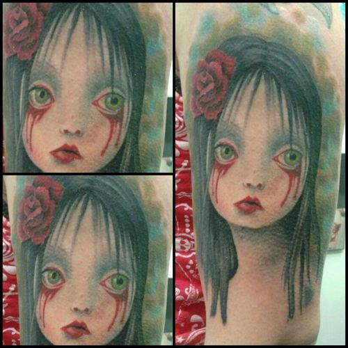 Hanging Out Art Tattoo Tattoos Mark Ryden Tattoos By Shannon Brown