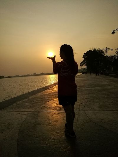 Human Hand Water Sunset Beach Sea Child Women Silhouette Females Summer