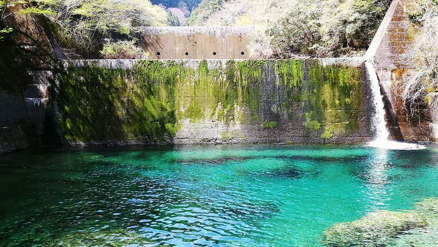 Yasui Gorge, Kochi-pref. Japan Outdoors Blue Pool Nature River Blue Water Water Fall Ruin Niyodo River Niyodo-blue Water Architecture Built Structure Waterfront