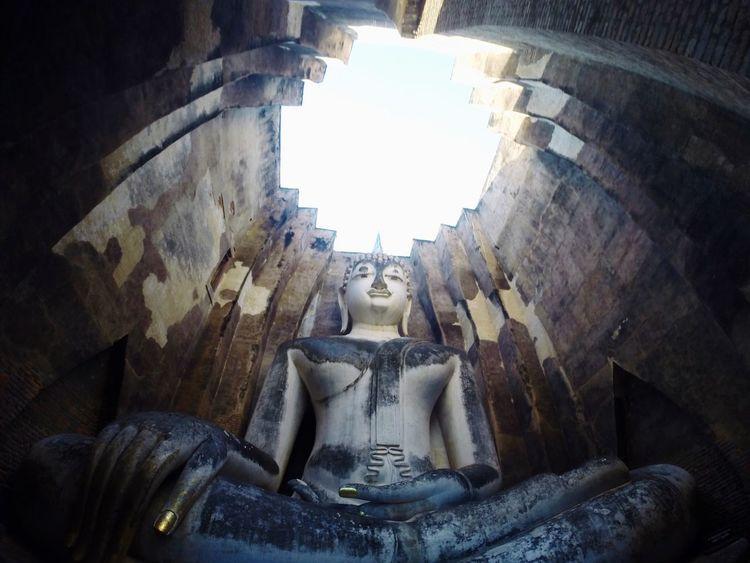buddha statue Architecture Built Structure Statue History Sculpture Buddha Sukothai Thailand Perspectives On Nature