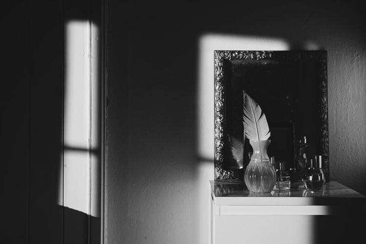 Sunlight falling from window in house