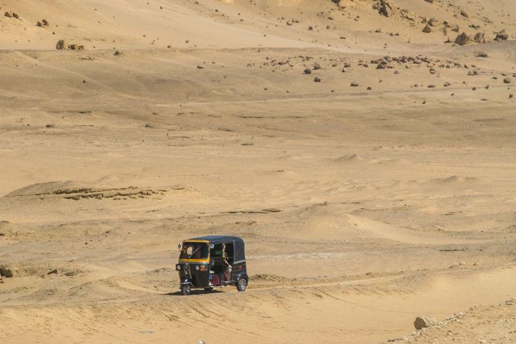 Tractor In Desert