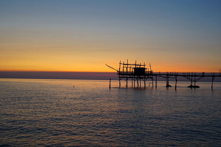 Beauty In Nature Horizon Over Water Nature No People Outdoors Scenics Sea Silhouette Sky Sunset Trabocco Turchino Tranquil Scene Tranquility Water