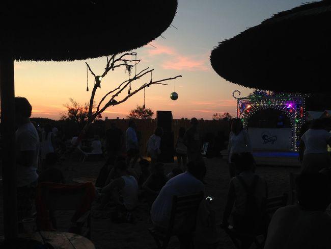 Ostuni Puglia Tramonto Beach Cielo Lullabay Ombrelloni Sunset
