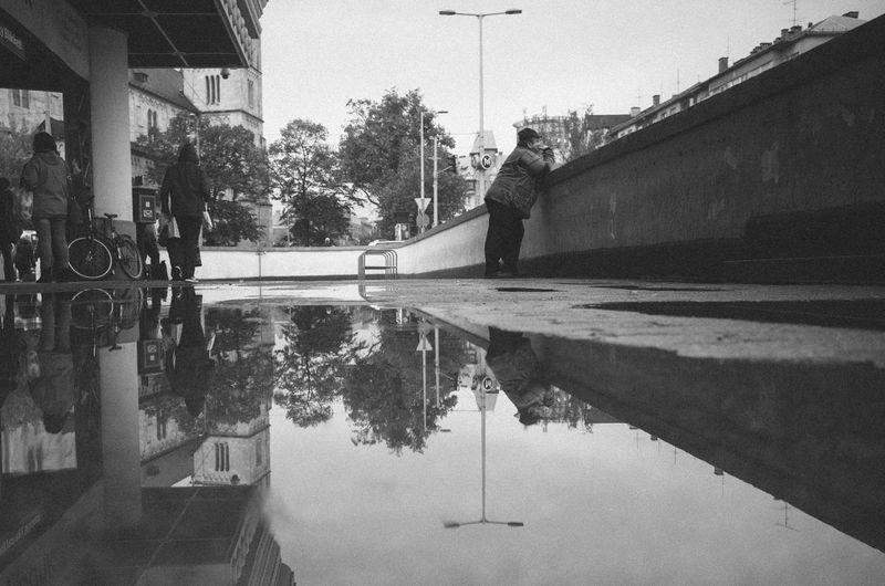 RICOH GR 2 Reflection Blackandwhite Monochrome Reflection Streetphotography