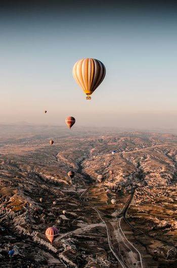 From there, I can saw everything View Beautiful Destinations Cappadocia Turkey Landscape Transportation Mid-air Flying Travel Mountain Outdoors Scenics - Nature Nature