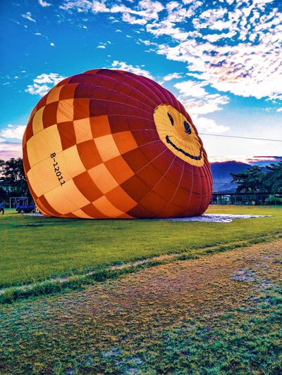 Be. Ready. Hot Air Balloon Sky Outdoors Grass Nature Colors Festival Travel Roadtrip Destination Adventure Landscape Taiwan Bucketlist Clouds Close-up Smiley Resolution Live Authentic Experience Journey Goals Canon HikeNhype EyeEmNewHere Summer Exploratorium