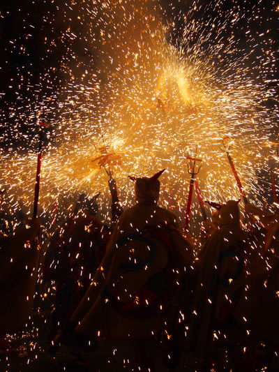 Dance of the Demons Arts Culture And Entertainment Atmosphere Catalunya Celebration Costumes Culture Event Exploding Exploding Fireworks Explosion Festival Festival Season Fire Firework Firework Display Fireworks Glowing Illuminated Light And Shadow Night Lights Nightphotography SPAIN Sparks Traditional