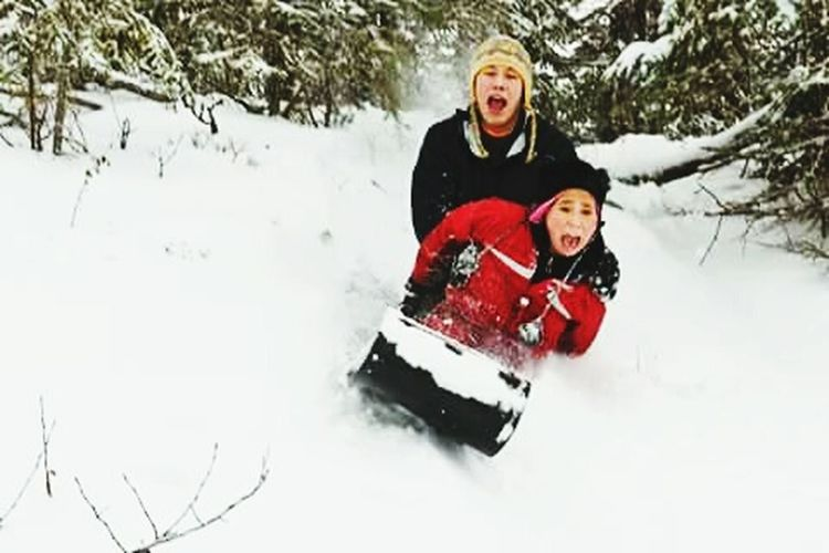 Sledding Brother And I Five Years Ago. Miss Those Days