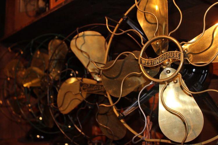 Vintage Fan Antique Westinghouse Copper  Gold Pennsylvania