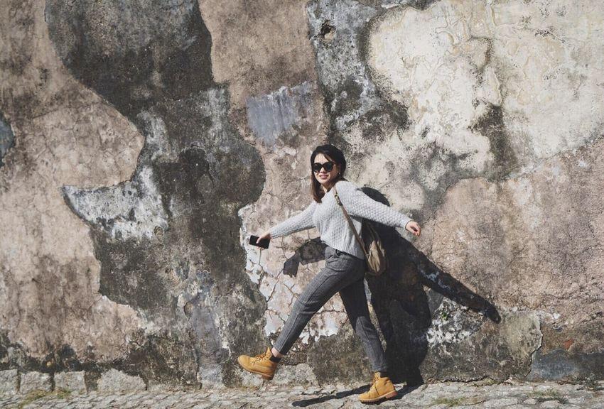 Rock - Object Full Length Danger One Man Only Adventure Only Men Outdoors
