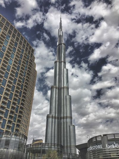 Architecture Skyscraper Building Exterior Sky Built Structure City Tall - High Low Angle View Tower Travel Destinations Cloud - Sky Modern No People Outdoors Tall Day Burj Khalifa Mydubai Dxbdiaries Whatisee Igersdubai Eyeemphotography