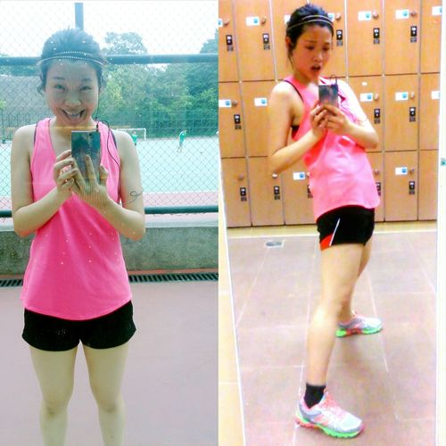 2hrs volleyball training, 1hr street running Jogging Selfie GoodDay❤ HongKong