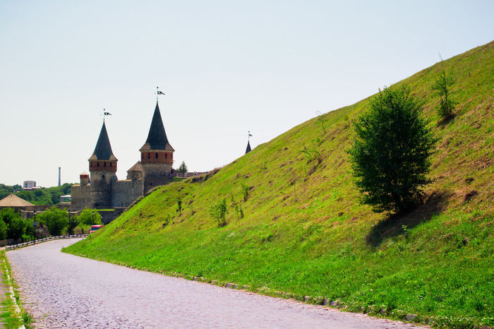 Architecture Building Exterior Built Structure Castle Clear Sky Day Fortress Fortress Wall Hill Historical Historical Building Kamenets-Podolsky Landscape No People Outdoors Place Of Worship Religion Sky Spirituality Ukraine