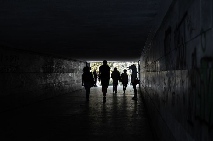 I have my favourite to Eurovision. They stand like an unicorn in the crowd. https://youtu.be/Uvy_R3fTHQ4 Go, Bulgaria! Unicorn Unicorn Head Dark Silhouettes People City Silhouette Tunnel Walking Full Length Togetherness Architecture Underpass Passageway Underground Walkway Underground Walkway Light At The End Of The Tunnel Subway Graffiti Focus On Shadow Adventures In The City Visual Creativity Focus On The Story #FREIHEITBERLIN Creative Space The Street Photographer - 2018 EyeEm Awards #urbanana: The Urban Playground Be Brave A New Beginning