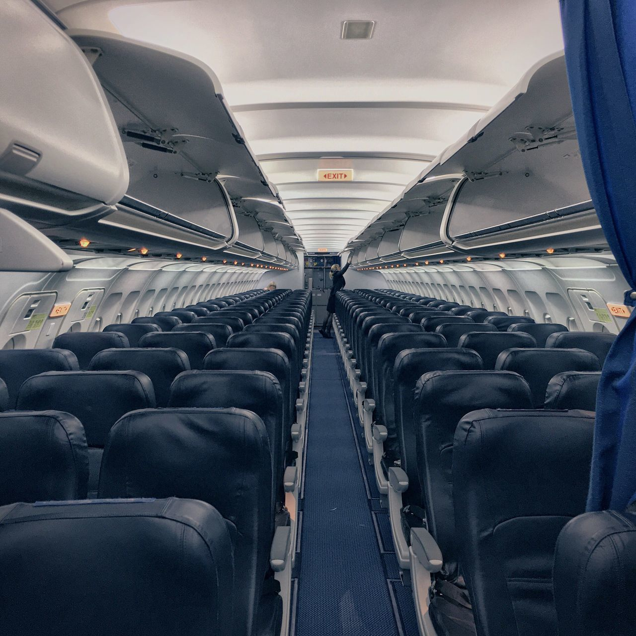 transportation, vehicle interior, vehicle seat, travel, mode of transport, airplane seat, journey, airplane, passenger cabin, public transportation, in a row, seat, indoors, no people, day