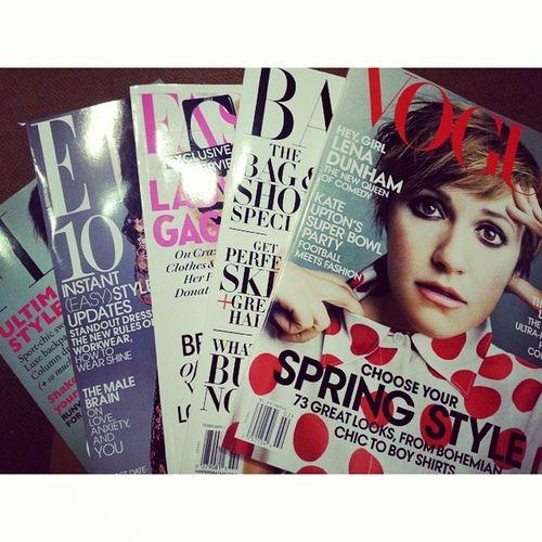 My kind of studying. Spring Fashion reads at @chaptersindigo ♡ Style Springfashion Springtrends trendreport magazines reading goodreads instagood instamood fotd